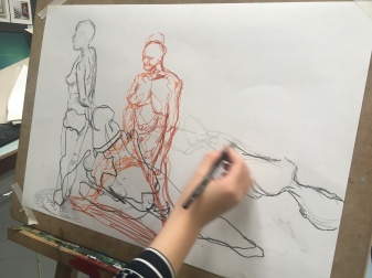 Life Drawing Class for Sixth Form students